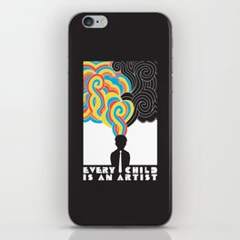 Every Child Is An Artist iPhone Skin