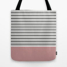 SAILOR STRIPES WITH PINK Tote Bag