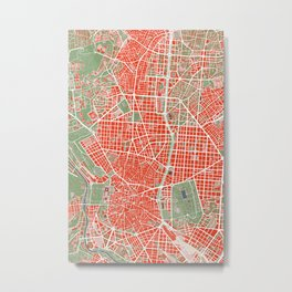 Madrid city map classic Metal Print