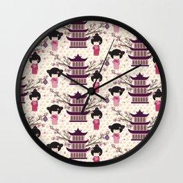 Japanese Neck Gator Nihon Kenchiku Wall Clock