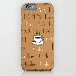 Coffee Cafe Subway Art 2.0 iPhone Case
