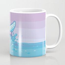 Polka Dot Whale Fluke Coffee Mug