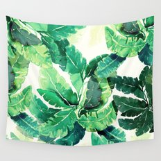 green summer leaves Wall Tapestry