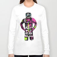 the moon Long Sleeve T-shirts featuring Moon by edwinservaas