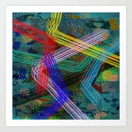 abstract fantasy colors ### Art Print