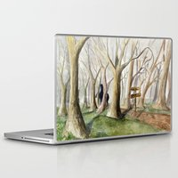 middle earth Laptop & iPad Skins featuring Middle Earth by Jeff Moser Watercolorist