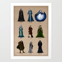 valar morghulis Art Prints featuring The Aratar by wolfanita