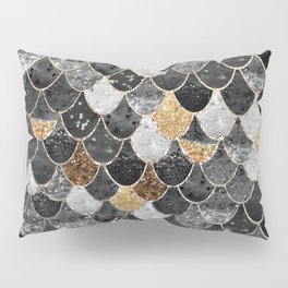 REALLY MERMAID BLACK GOLD Pillow Sham
