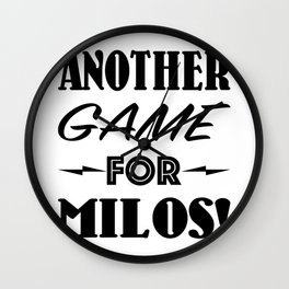 Another Game for Milos Seinfeld Pillow Wall Clock