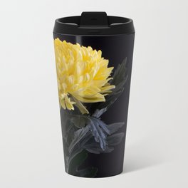Yellow Chrysanthemum Metal Travel Mug