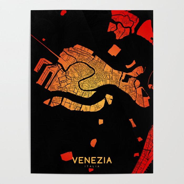Venezia map Poster