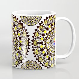 Football Themed Mandala Textile Coffee Mug