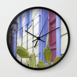 New Orleans Marigny Cactus Wall Clock