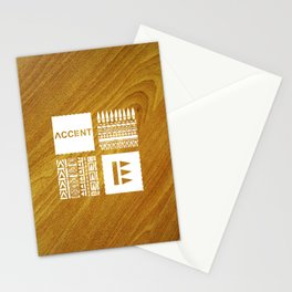 Quartet White Wood Grain Stationery Cards