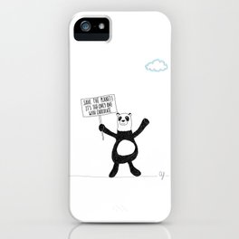 Panda Chocolate iPhone Case