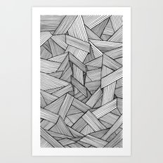 Straight Lines Art Print