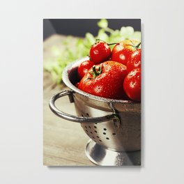 Fresh tomatoes Metal Print