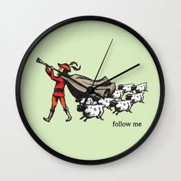 'Follow me' from the RetroTech Series by DaMoJo.co Wall Clock