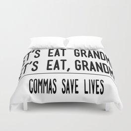 Let's Eat Grandma - Commas Save Lives Duvet Cover