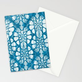 Blue and White Batik  Stationery Cards