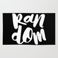 random Area & Throw Rugs featuring Random by Word Quirk