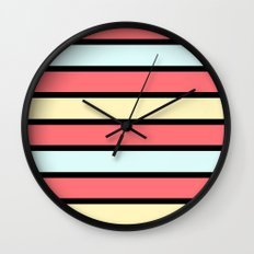 Color band 70's - Formica Stripe Wall Clock