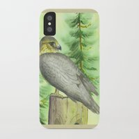 merlin iPhone & iPod Cases featuring Merlin Falcon by Holly Barbo