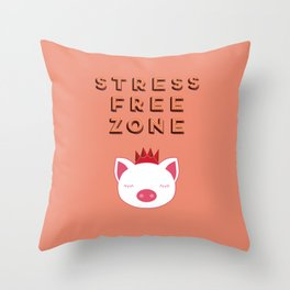 Stress Free Zone Throw Pillow