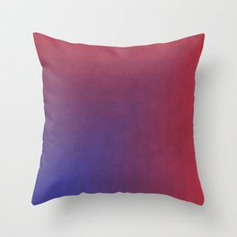 Abstract Rectangle Games - Gradient Pattern between Dark Blue and Moderate Red Throw Pillow