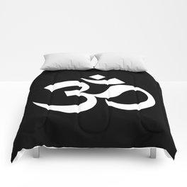 Om - black Comforters