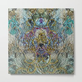 Fantasy in blue and gold Metal Print