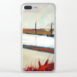 Across the line II Clear iPhone Case
