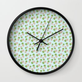 Painted Pineapples Wall Clock
