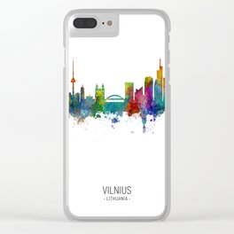 Vilnius Lithuania Skyline Clear iPhone Case