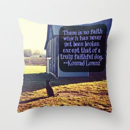 Faithful German Shepherd Throw Pillow