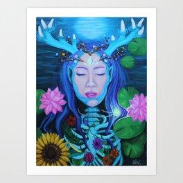 La Nymphe de la Forêt Art Print