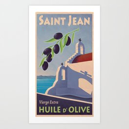 Saint Jean huile d'olive Art Print