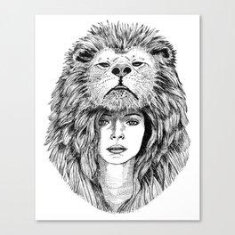Lion Lady Canvas Print