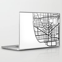 detroit Laptop & iPad Skins featuring Detroit Streets by AnnieK