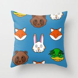 Blue KRFT Throw Pillow