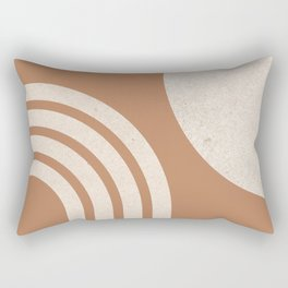 Mid century modern terra Sun & Rainbow Rectangular Pillow