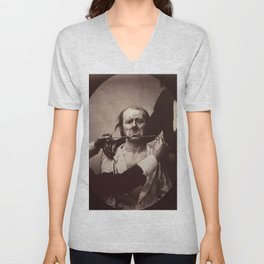 Duchenne de Boulogne Emotion Portrait Unisex V-Neck