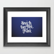 Blue Velvet Framed Art Print