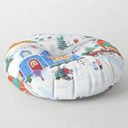 Wintertime in Sugarcreek Floor Pillow