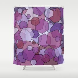 Converging Hexes - Mauve Pink and Purples Shower Curtain