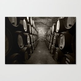 Barrels of Porto Canvas Print