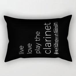 Live, love, play the clarinet (dark colors) Rectangular Pillow