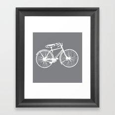 Reverse Bike Framed Art Print