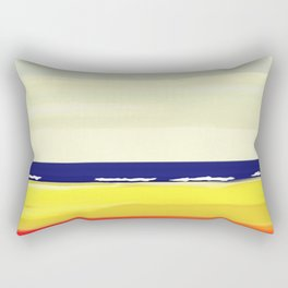 Haifa Israel Mediterranean Beach Rectangular Pillow