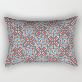 Volcanic Eruption Abstract Print Seamless Pattern Rectangular Pillow